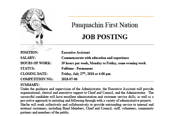 Job Posting: Executive Assistant